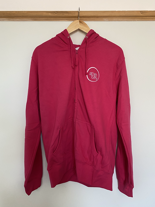 Pink Spin City Zip-Up Hoodie