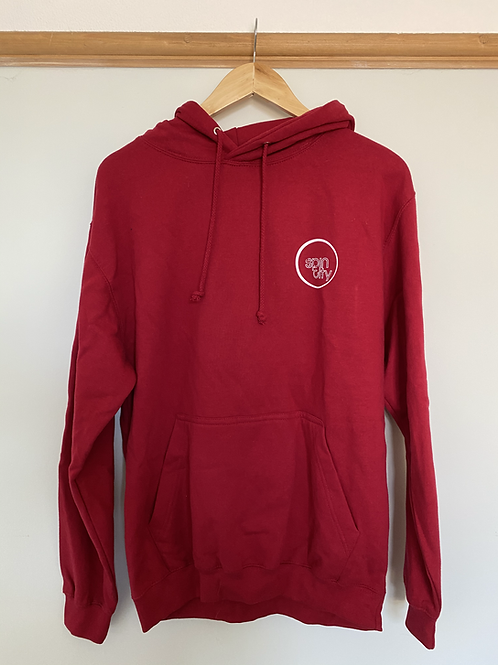 Red Spin City Pullover Hoodie