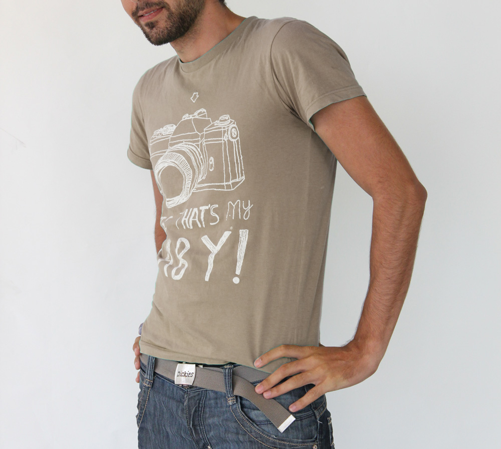 Brown Personalized Printed T-shirt