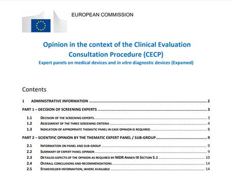 Publicada a primeira avaliação dos Especialistas (Expert Panels)
