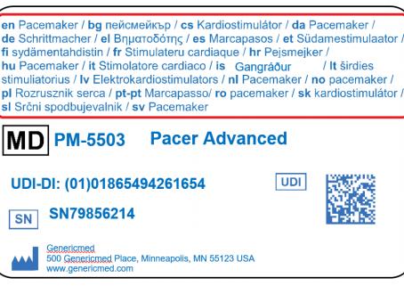 Cartão de Implante para Dispositivo Médico Implantável