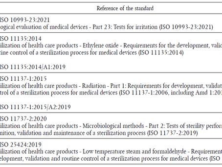 Normas Harmonizadas para suportar o Regulamento Europeu de Dispositivo Médico (MDR 2017/745)