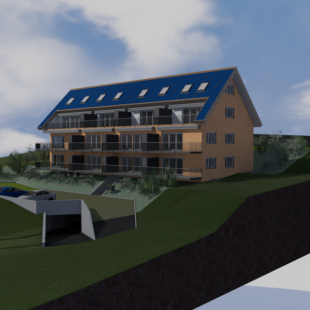 Neubau MFH Sonnendach Homrechtikon 3