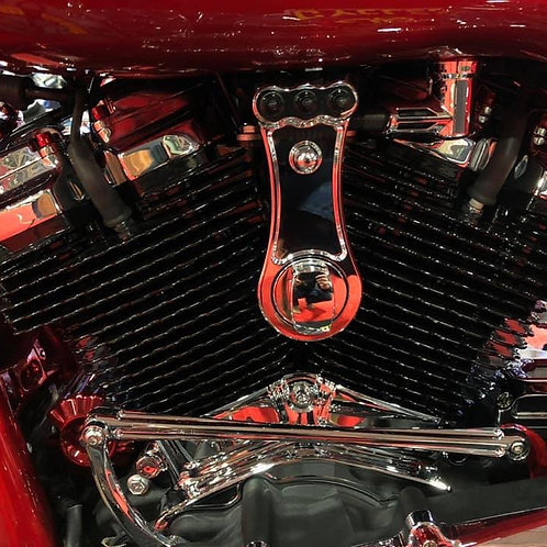 Chrome Billet Combo Ignition and Air Ride Set-up