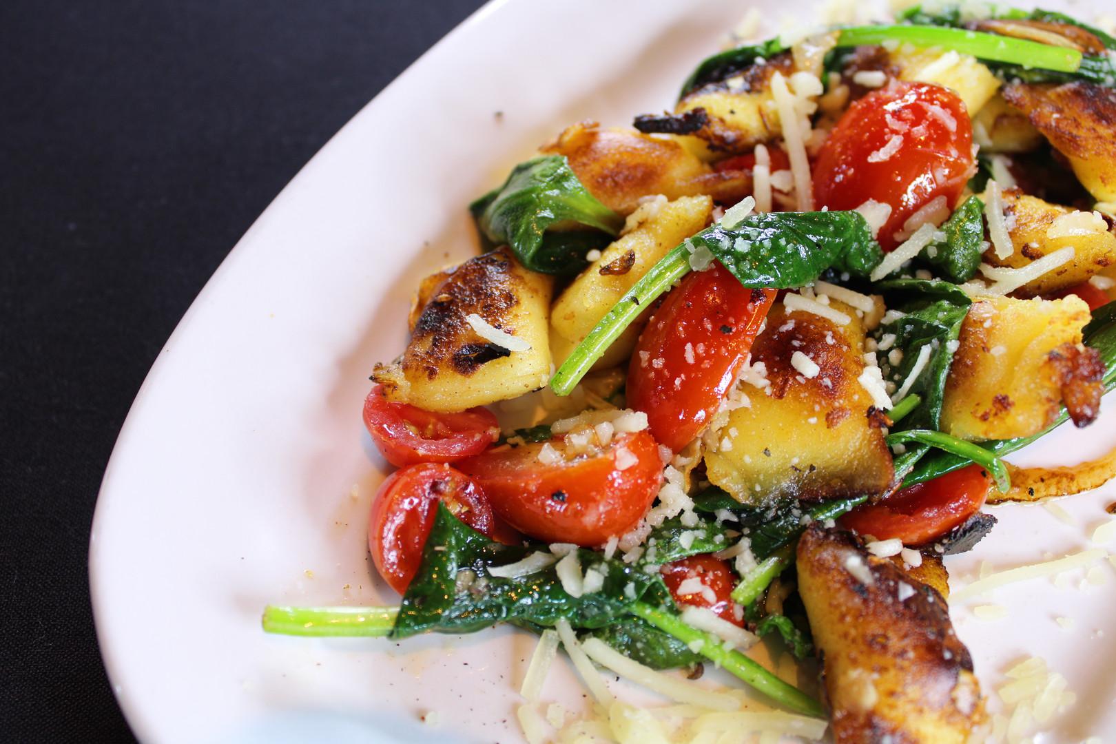 asiago-stuffed gnocchi