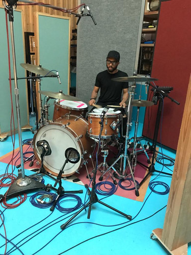 Chris on Drums Studio 7