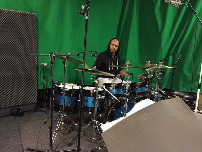 Chris on Drums Studio 8