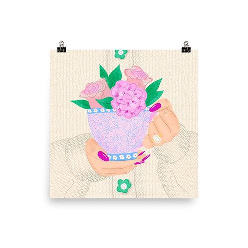Flower Tea Poster