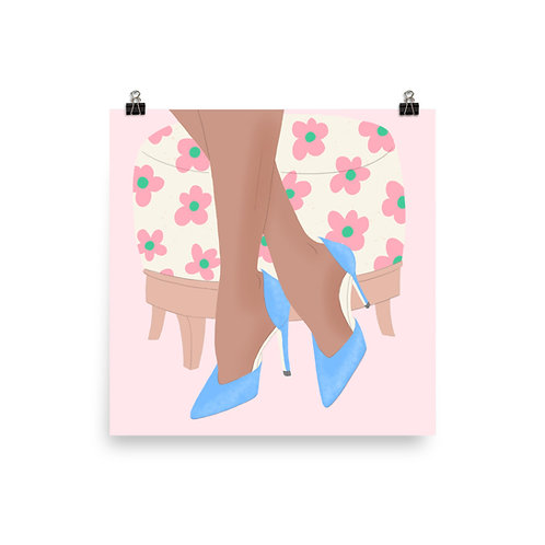 Blue Suede Heels Poster