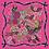 Thumbnail: Fuchsia Floral Silk Scarf