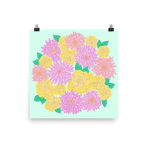 Flower Circle Poster