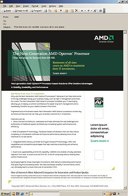 AMD email copy example