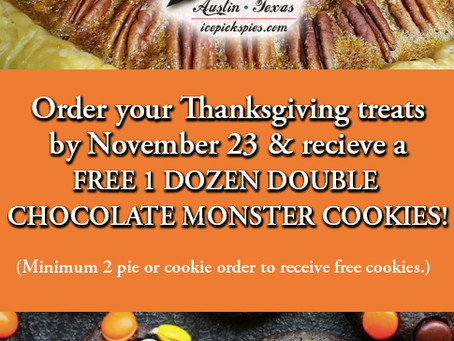 FREE DOZEN MONSTER DOUBLE CHOCOLATE COOKIES