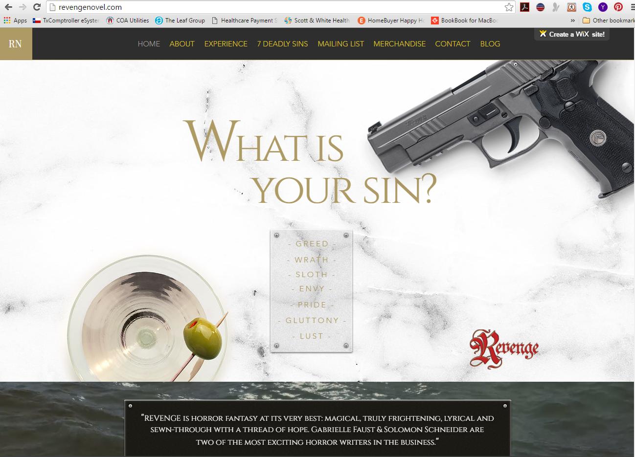 Revenge Website Home Page