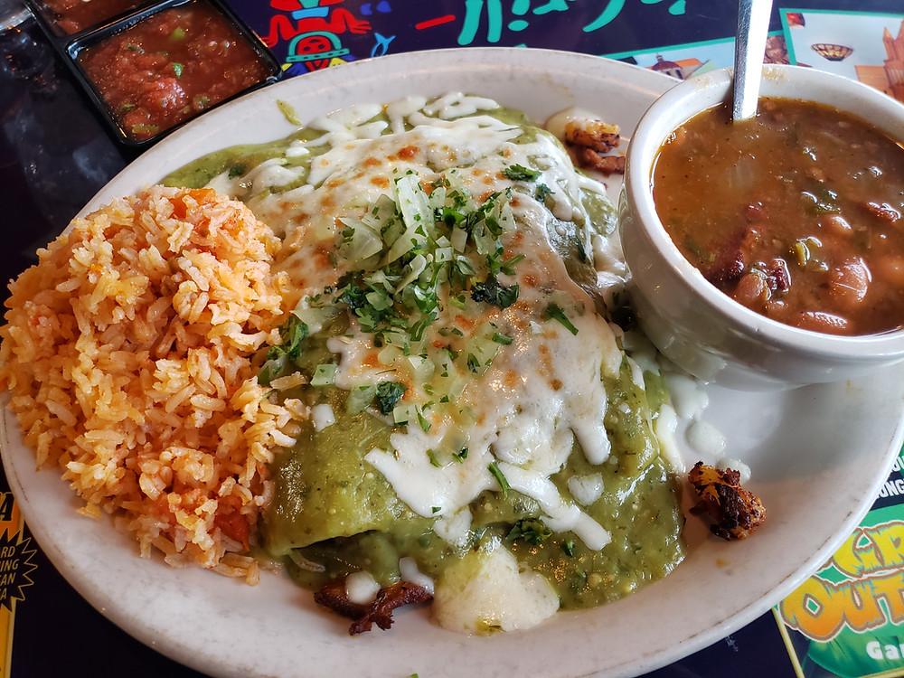 Enchiladas Al Pastor at Curra's Grill. Photo ©TheGSpotReviews 2019