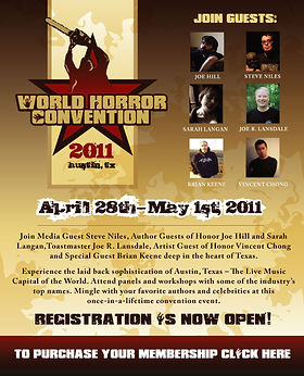 World Horror Convention Landing Page