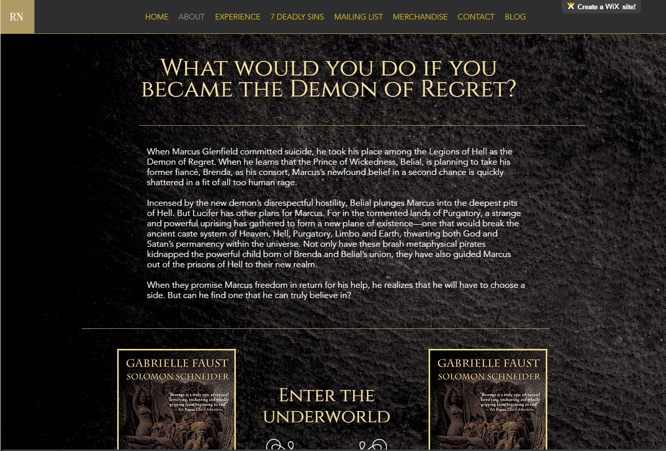 Revenge Website Example Subpage
