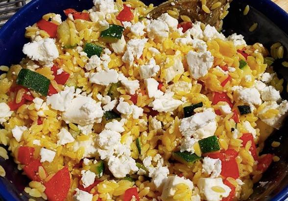 Gluten-Free Greek Orzo Pasta Salad