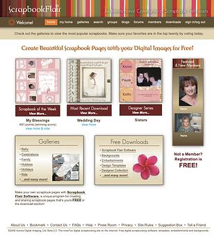 Scrapbook Flair Landing Page