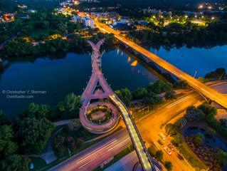 Over Austin View of Pfluger Bridge