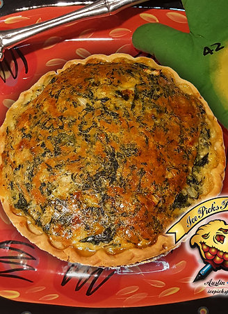 GREEK SPINACH CHEESE QUICHE