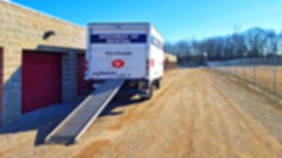 55 rental truck unloading