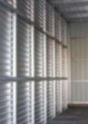 Inside an empty storage unit