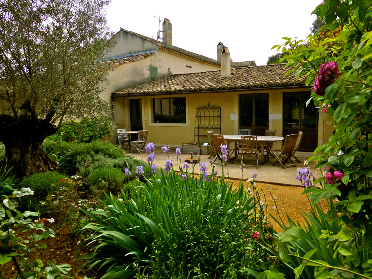 La terrasse de la maison annexe