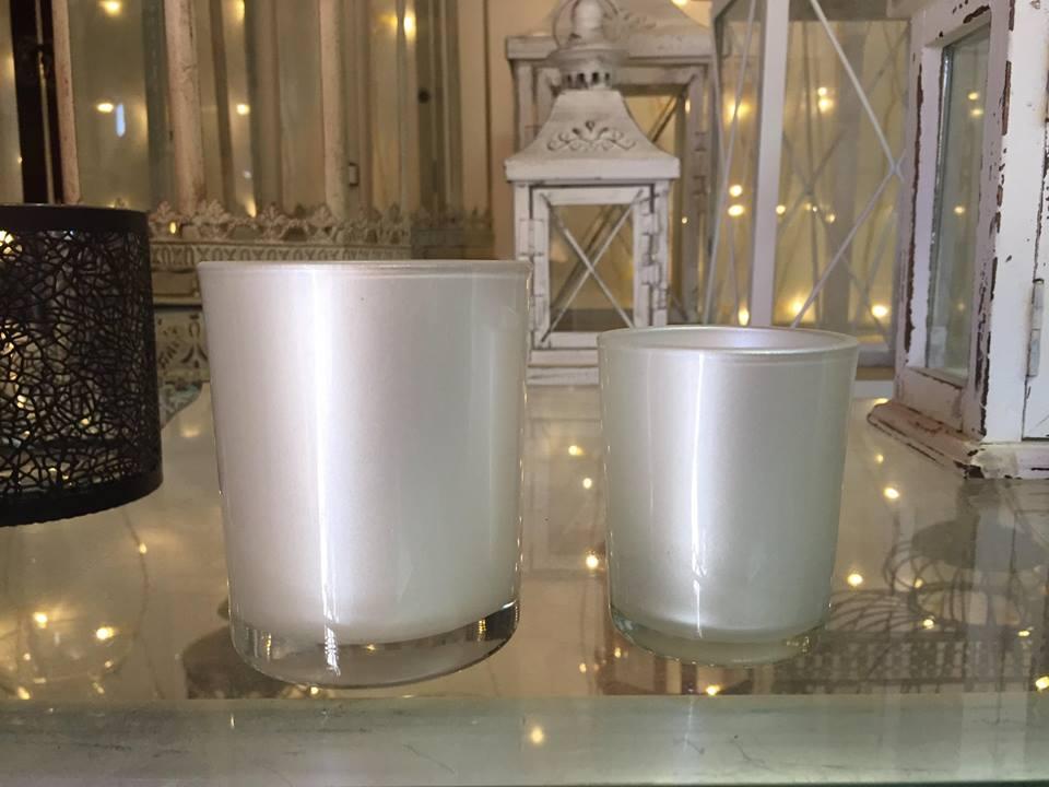 כוס לבנה לנר