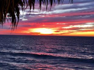 Amazing sunset colours