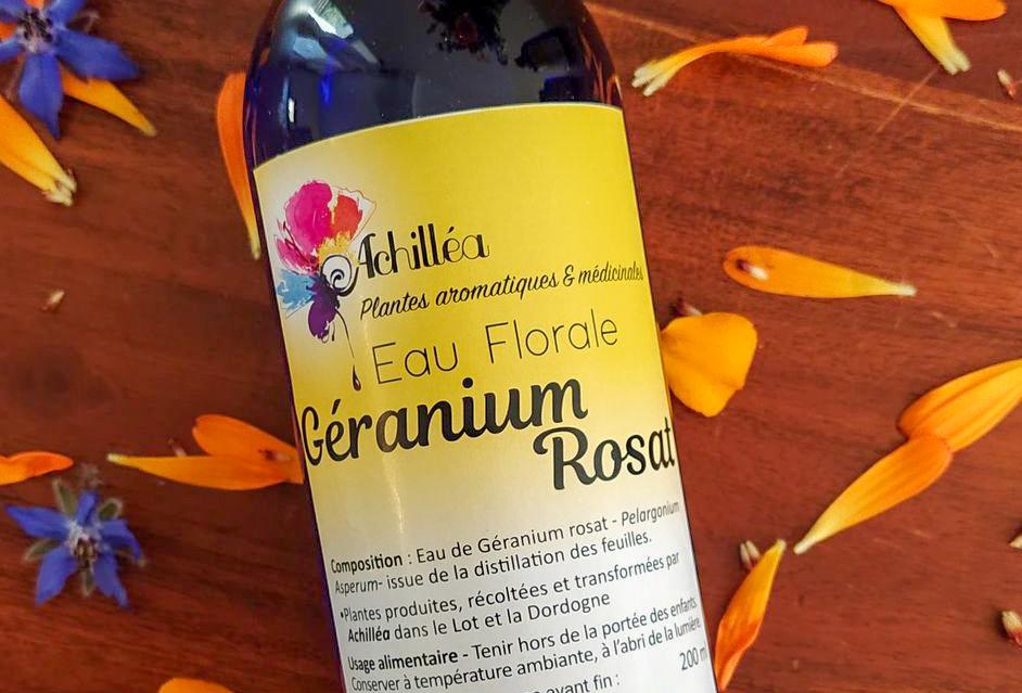Géranium Rosat - Eaux Florales Essentielles