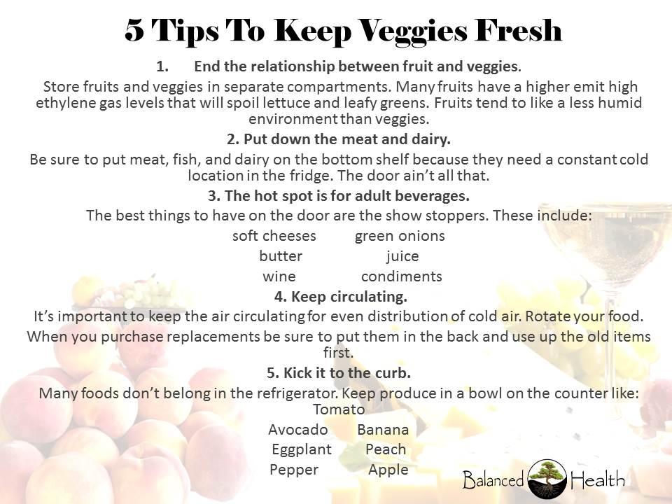 5 tips to keep veggies fresh