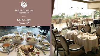 One Perfect Afternoon Tea in the Lobby Tea Court at The Phoenician, A Luxury Collection Resort