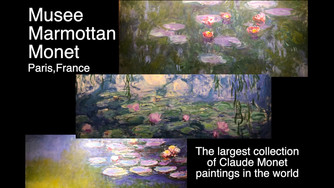We visited Musee Marmottan Monet in Paris, France which features the largest collection of Claude Mo