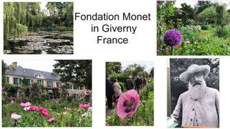 We enjoyed the beautiful home and gardens of Claude Monet in Giverny, France and lunch at Les Nymphe