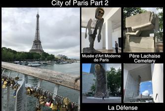 City of Paris Part 2- Père Lachaise Cemetery, La Défense and the Musée d'Art Moderne de Paris