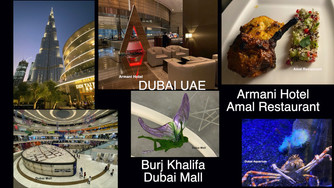We enjoyed visiting the Burj Khalifa, Armani Hotel, Dubai Mall and having dinner at Amal in Dubai UA