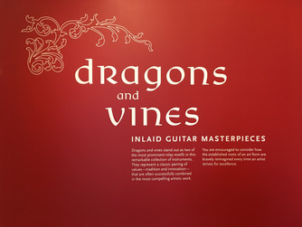 Dragons and Vines Inlaid Guitar Masterpieces at the Musical Instrument Museum in Phoenix Arizona