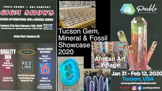 Welcome to the annual Tucson Gem, Mineral and Fossil Show in Arizona!