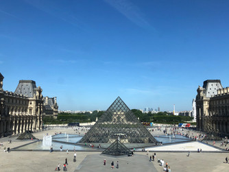 We loved visiting the Louvre Museum with lunch at The Café Richelieu-Angelina in Paris France