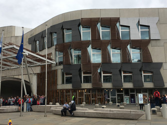 Take a tour of the architecturally stunning Scottish Parliament in Edinburgh Scotland