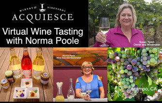 Virtual Wine Tasting Experience at Acquiesce Winery & Vineyards - Lodi's only all white wine win
