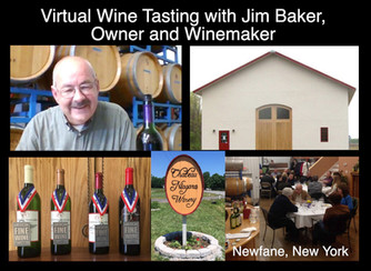 We loved this fun Virtual Wine Tasting with Jim Baker -Storyteller and Winemaker