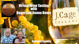 We loved our Private Virtual Wine Tasting with Roger and Donna Beery at J. Cage Cellars