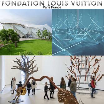 Visit the incredible Fondation Louis Vuitton museum in Paris France