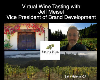 Enjoy this informative Virtual Wine Tasting at Stony Hill Vineyard  with Jeff Meisel
