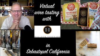 We had a wonderful Virtual Wine Tasting with Halleck Vineyards in Sebastopol California