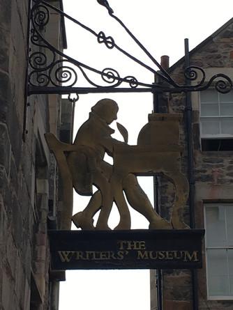 The Writers Museum in Edinburgh Scotland celebrates the lives of three giants of Scottish Literature