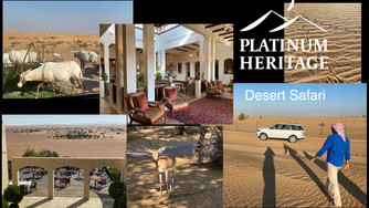 We highly recommend this fabulous Dubai desert safari and Al Maha Resort tour with Platinum Heritage
