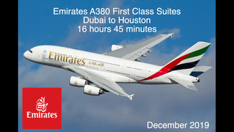We had an incredible flight on Emirates Airbus A380 First Class Private Suites Dubai to Houston Dece